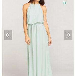 Show Me Your Mumu Dusty Mint Crisp Maxi Dress